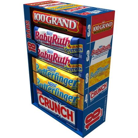 Nestle Butterfinger, Baby Ruth, 100 Grand & Crunch Full ...
