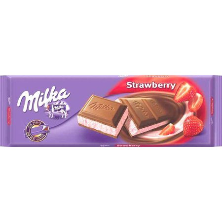 Milka Milk Chocolate Filled with Strawberry and Yogurt, 250g ()