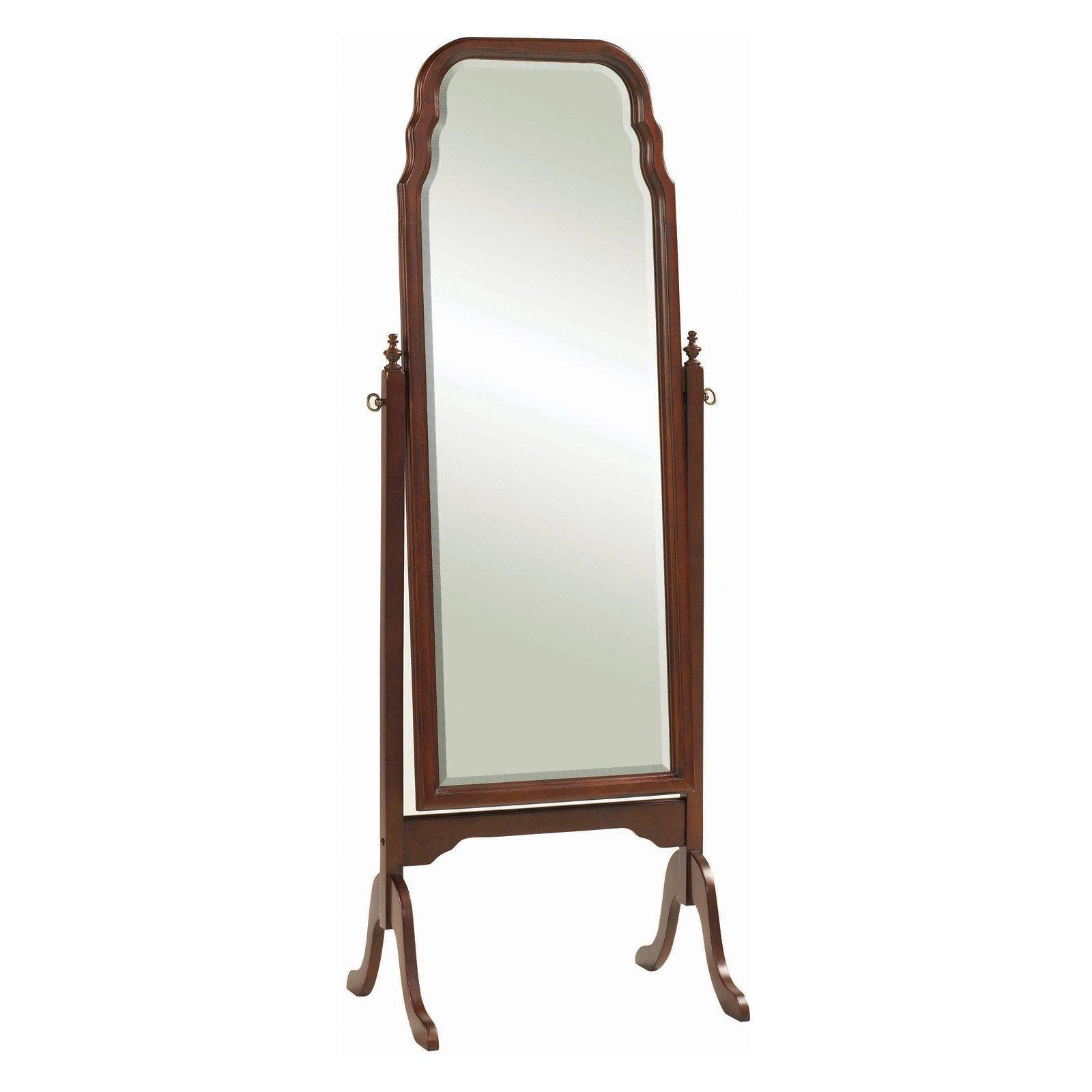 Queen Anne Cheval Floor Mirror - 22.25W x 63H in.