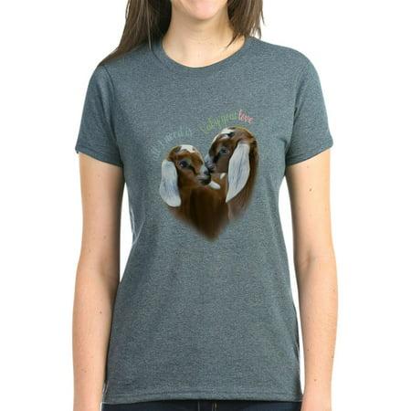eb4269bac0d4 CafePress - CafePress - Baby Goat Love Getyergoat Exclusive Original T S -  Women's Dark T-Shirt - Walmart.com