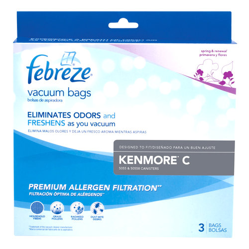 Febreze Vacuum Bags, Kenmore C, Pack of 3