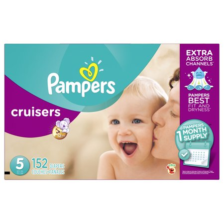 Pampers Cruisers Diapers, Size 5, 152 Diapers