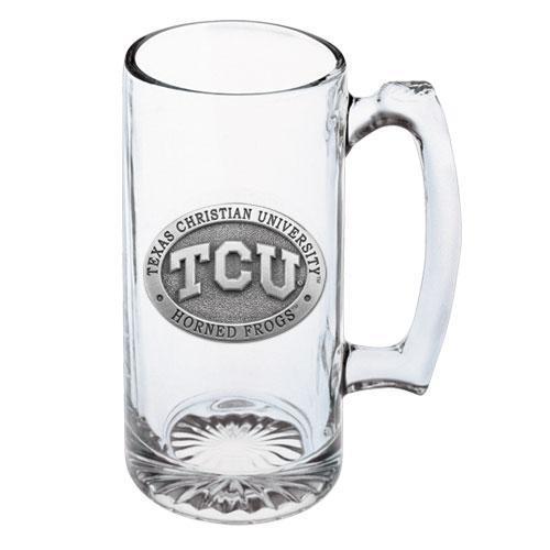 Texas Christian University Glass Beer Super Stein