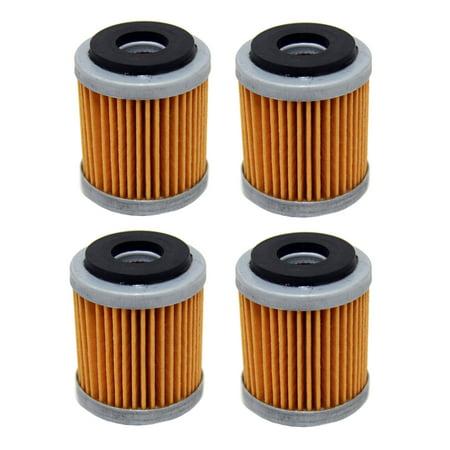 Factory Spec, FS-720, 4 Pack Oil Filters, Yamaha YFZ450, WR250F, YZ250F,  WR450F, YZ450F