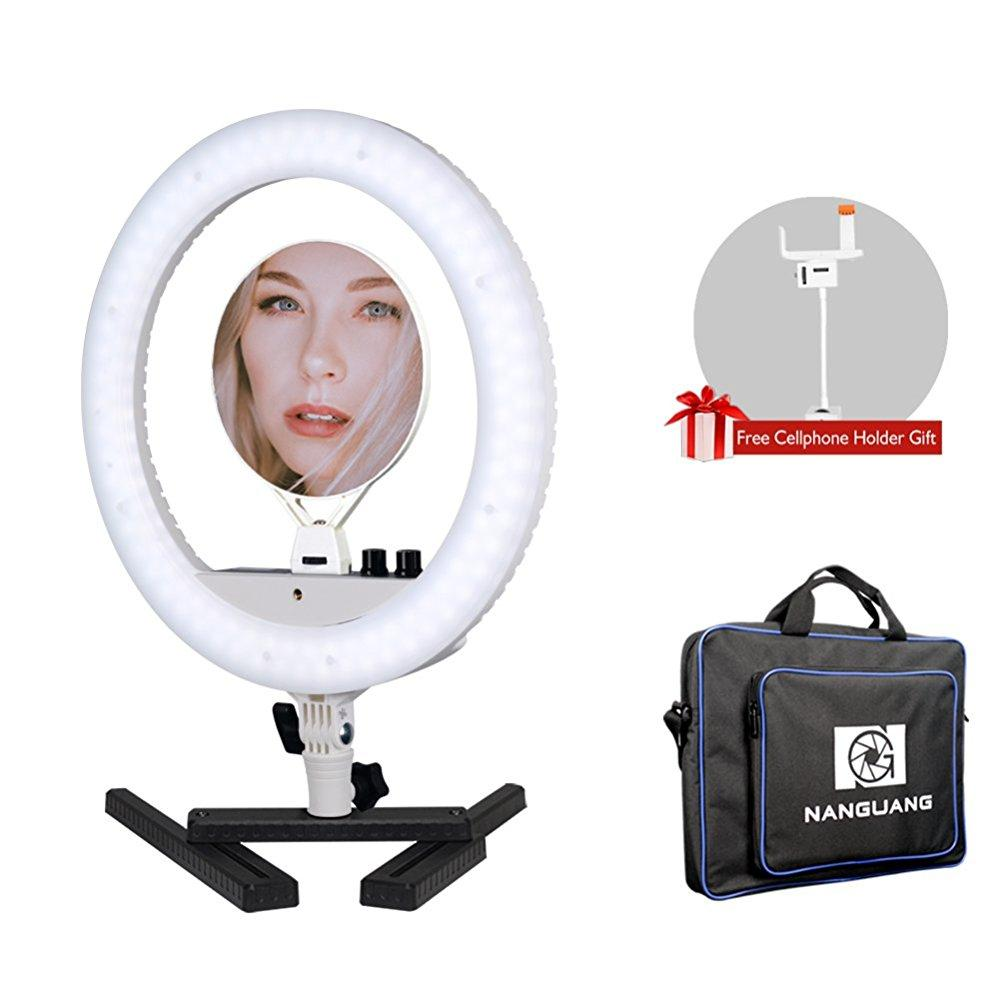 Nanguang Dimmable Ring Light 14 Led Ring Light Bicolor Portable