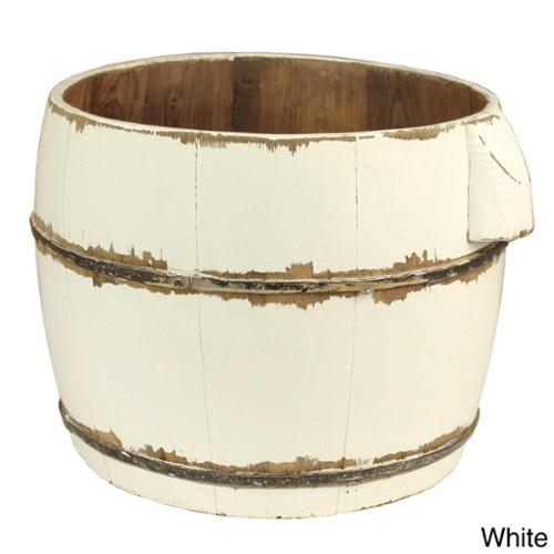 Round Household Decorative Bucket White