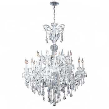 18 Light Maria Theresa Crystal (Maria Theresa Collection 18 Light Chrome Finish and Clear Crystal Chandelier)