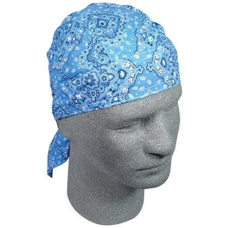 Zan Headgear Flydanna Headwrap Paisley Sky Blue (Blue, OSFM)