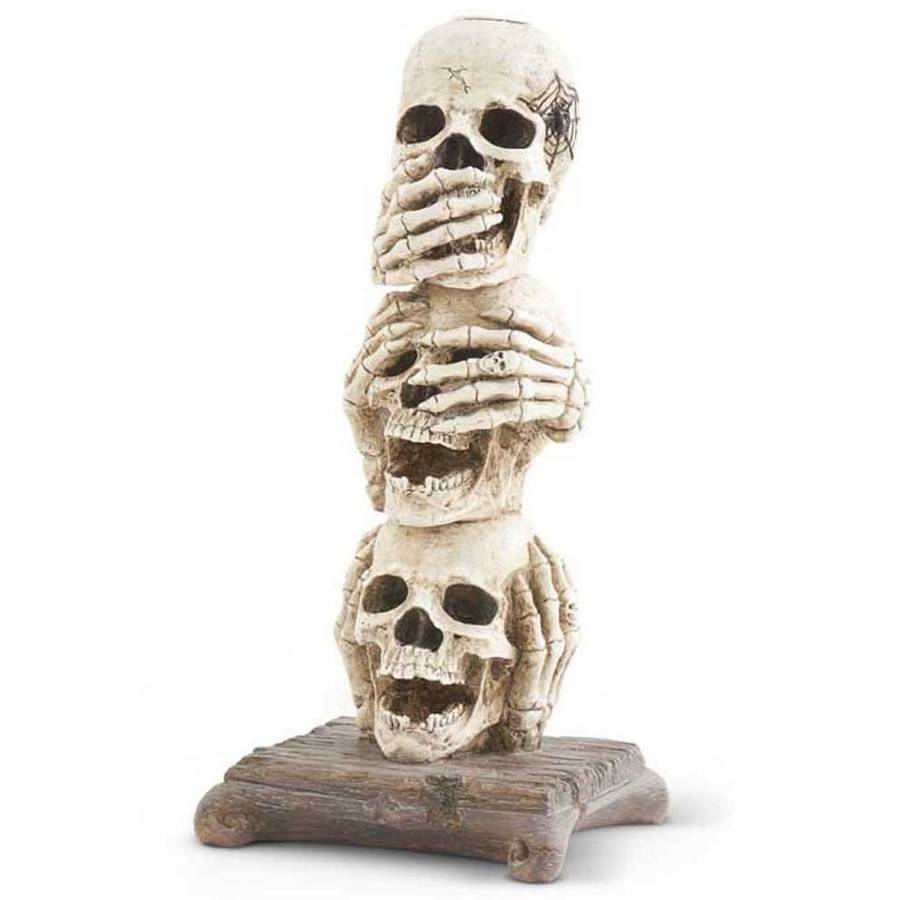 Stacked Skull Candle Holder
