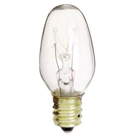 Satco S3903 10W 130V C7 Clear E12 Candelabra Base Incandescent bulb