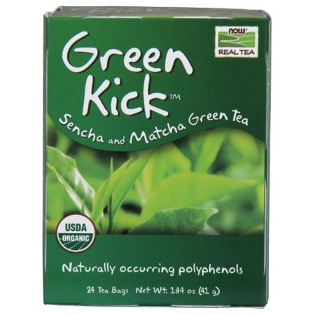 NOW Foods Green Kick Tea Ct, 24 Ct