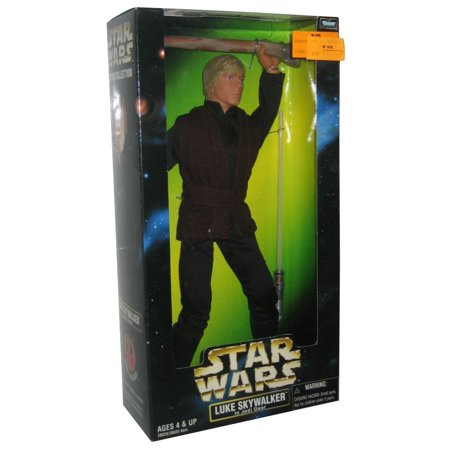 Star Wars Action Collection Luke Skywalker Jedi Gear Glow In Dark Lightsaber 12