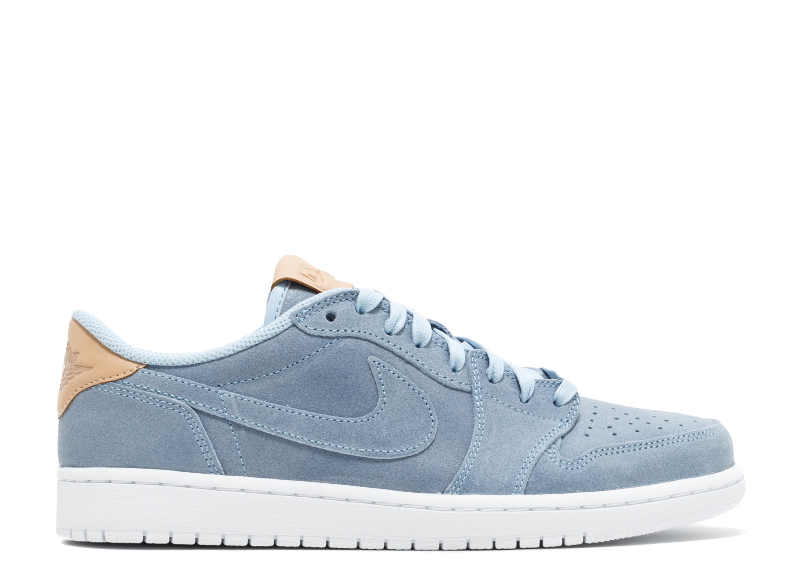 new style c37ba bb469 ... discount code for nike mens air jordan 1 retro low og premium ice blue  white vachetta