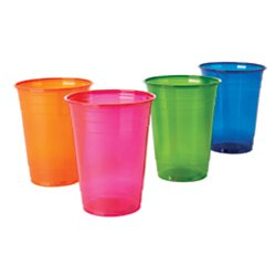Office Depot Plastic Cups, 16 Oz., Assorted Colors, Pack Of 100, 11591](Color Plastic Cups)