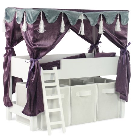Astounding Doll Canopy Bed Storage Set Fits American Girl 18 Inch Dolls Furniture Home Interior And Landscaping Ologienasavecom