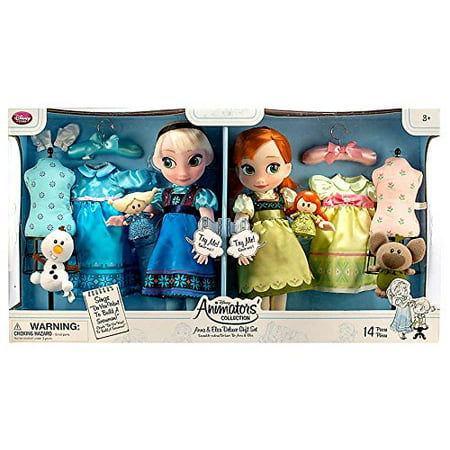 Disney Store Frozen Anna and Elsa Animators Collection Dolls Deluxe 2015 Set