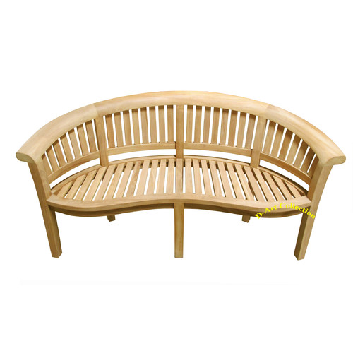 D-Art Collection Island Teak Wood Garden Bench