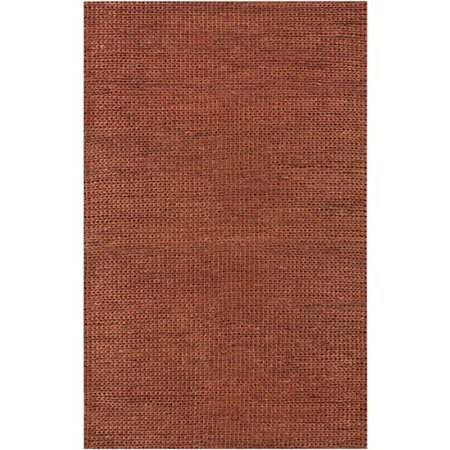 5' x 8' Modern Essentials Ash Brown Hand Woven Jute Area Throw Rug