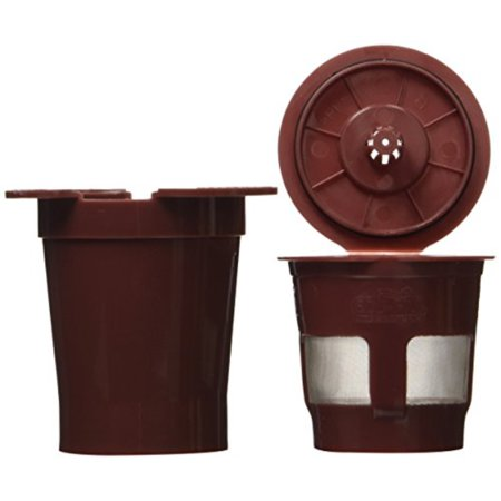 "perfect pod v10067 k2v for keurig vue - refillable k cup filter & adapter, 2.6 x 2.6 x 5.5"", brown"