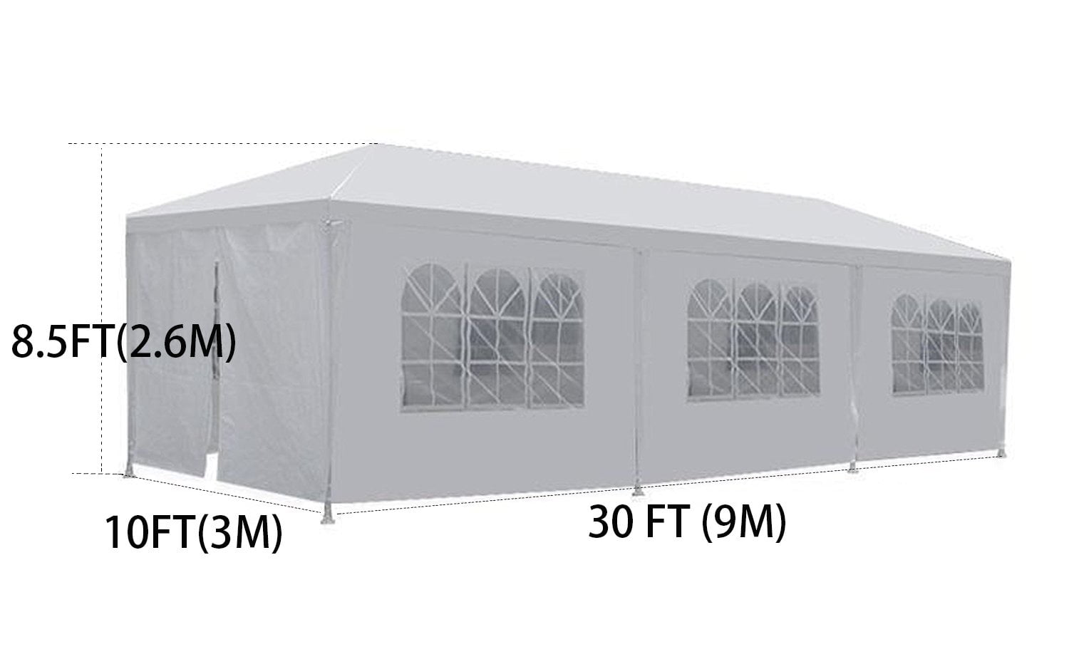 Outdoors Events Gazebo with Removable Sidewalls with Windows Great for Event and Party Pavilion Cater Fits 30 People Clevr 10x20 Wedding Party Canopy Tent