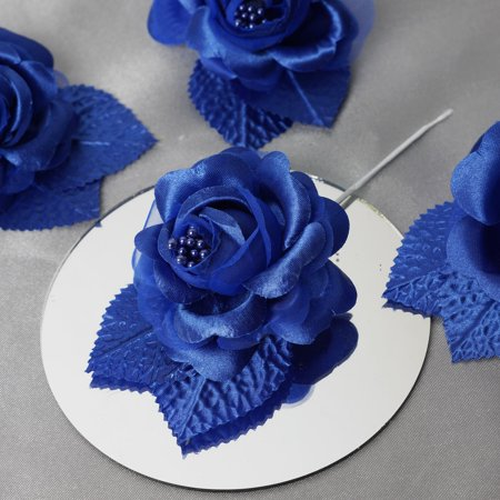BalsaCircle 12 Open Roses Craft Flowers - Mini Flowers for DIY Wedding Party Favors Decorations Supplies ()