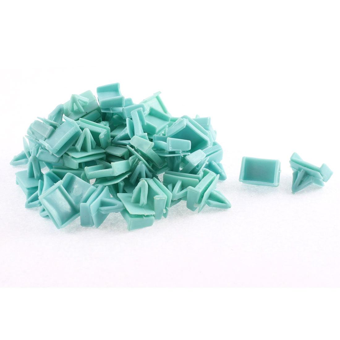 Unique Bargains 50 Pcs Blue Plastic Door Rivet Trim Buckle Mat Moulding Clip for Buick