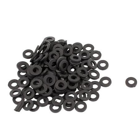 100pcs Round Insulation Nylon Flat Spacer Washer Gasket Ring 3 x 6 x 1mm