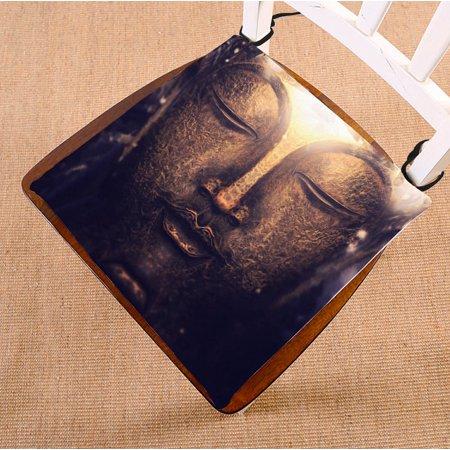 ZKGK Buddha Statue Seat Pad Seat Cushion Chair Cushion Floor Cushion Two Sides 16x16 Inches