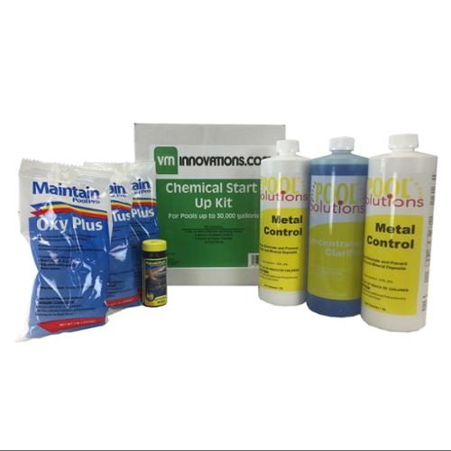 Swimming Pool Spring Start-Up Chemical Opening Kit - Pools Up To 30,000 Gallons