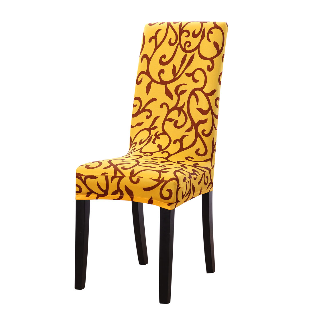 Linen Store Basket Weave Texture Dining Chair Cover, Stretch Form Fitting  Fabric Parson Chair Slipcover (Brown)   Walmart.com