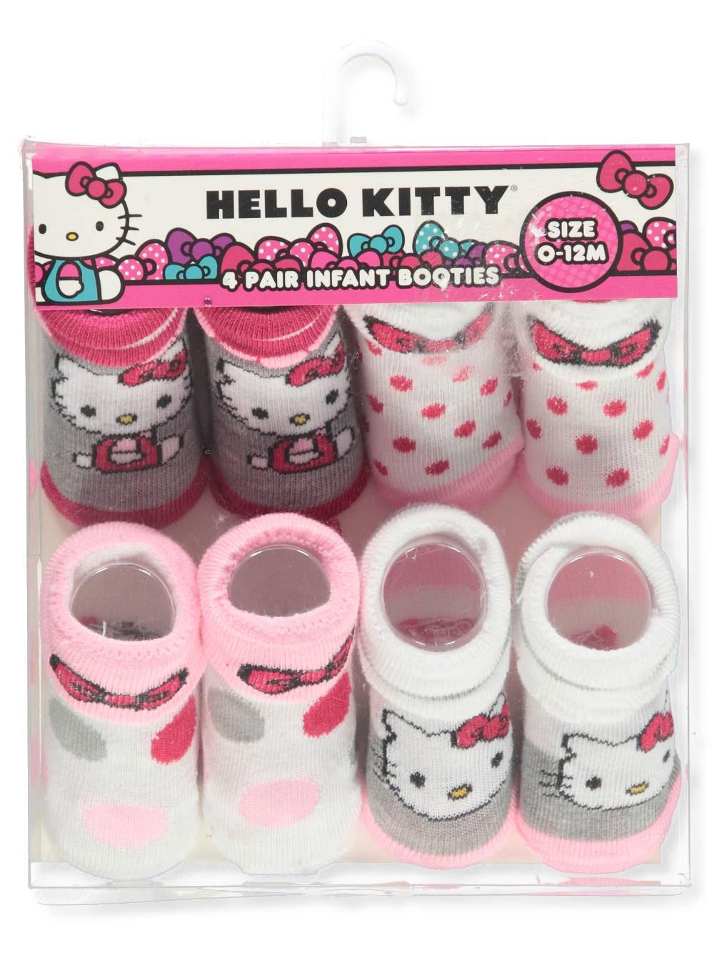 Hello Kitty Baby Girls' 4-Pack Booties