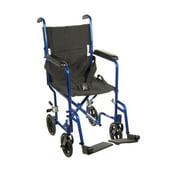 Best Transport Chairs - Drive Medical Lightweight Blue Transport Wheelchair Review