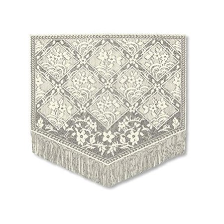 Heritage Lace CN-2021E Chantilly 20 x 21 in. Fringed Placemat - Ecru (Chantilly Lace Mat)