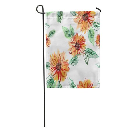 SIDONKU Brown Hand Sunflowers Watercolor Artistic Colorful Abstract Autumn Blooming Color Garden Flag Decorative Flag House Banner 12x18 inch Autumn Banner Flag Flags