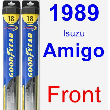 1989 Isuzu Amigo Wiper Blade Set/Kit (Front) (2 Blades) - Hybrid
