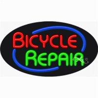 Arter Neon 14616 Flashing Neon Sign - Bicycle Repair
