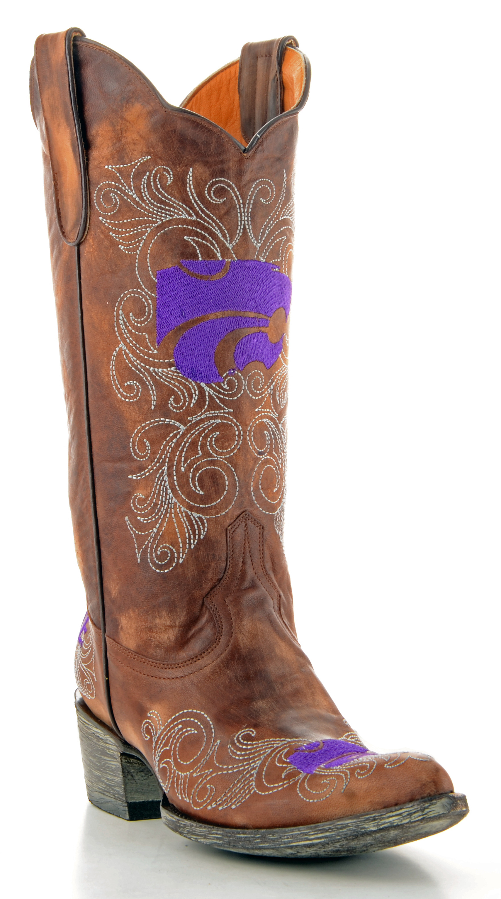 "Gameday Womens 13"" Leather Kansas State Cowboy Boots KST-L042 New by GameDay Boots"