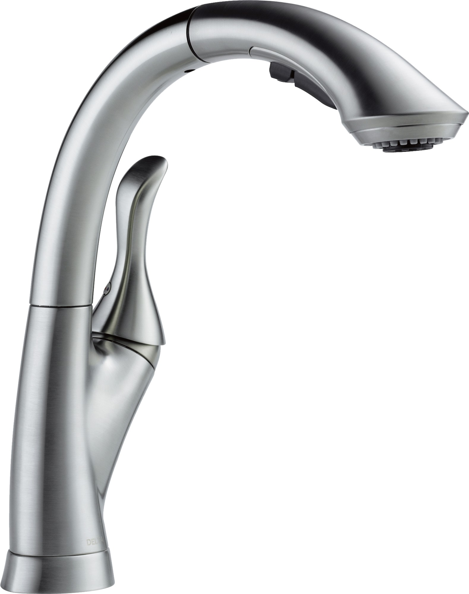 Delta Linden Single Handle Pull Out Kitchen Faucet Arctic Stainless Walmart Com Walmart Com