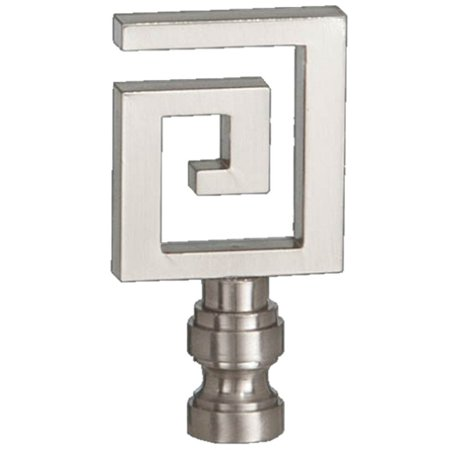 Greek Key Finial Satin Nickel (Satin Greek Key)