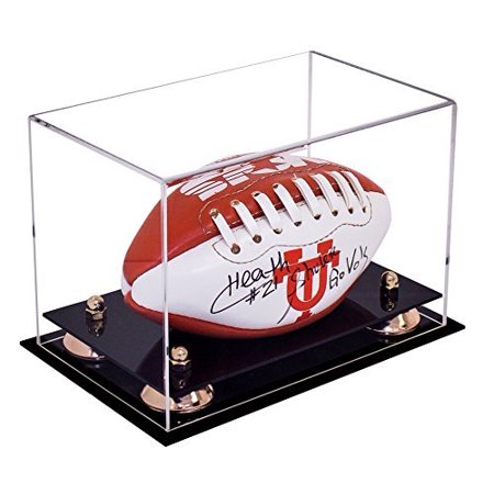 d78157bd563 Deluxe Clear Acrylic MINI - Miniature (not full size) Football Display Case  with Gold Risers (A005-GR) - Walmart.com