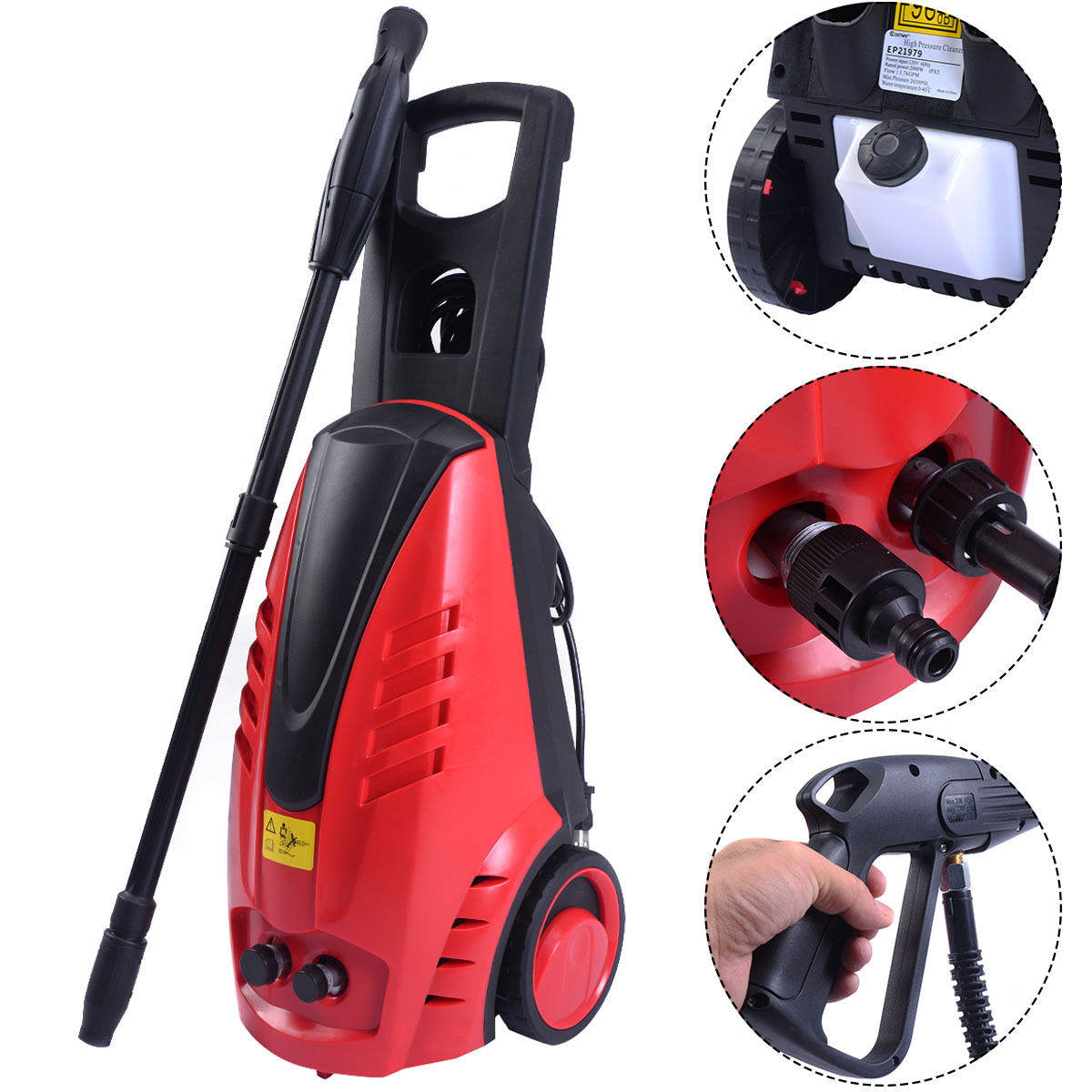 Costway Heavy Duty 2030PSI Electric High Pressure Washer 2000W 1.76GPM Jet Sprayer by Costway