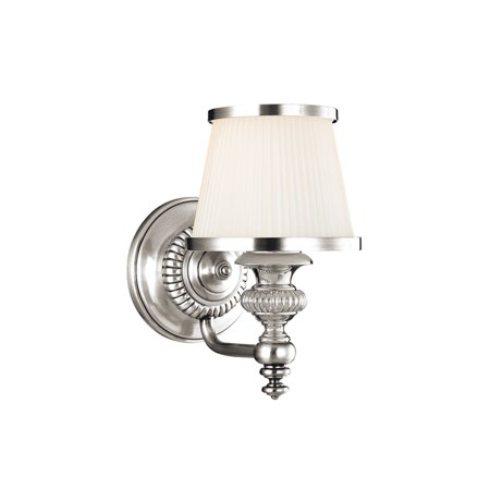 Hudson Valley Lighting 2001-PN One Light Wall Sconce from the Milton Collection, Polished Nickel