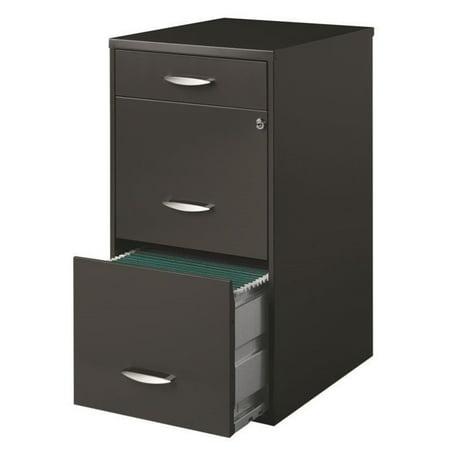 Hirsh SOHO Drawer File Cabinet In Charcoal Walmartcom - 3 drawer black file cabinet