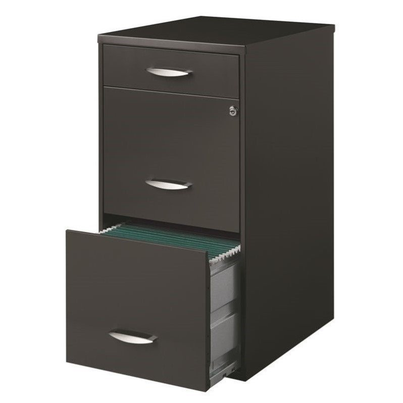 filing cabinets walmart hirsh soho 3 drawer file cabinet in charcoal walmart 15414