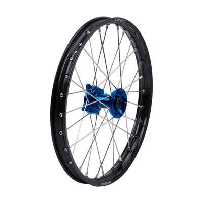 Impact Complete Wheel - Front 19 x 1.40 Black Rim/Silver Spoke/Blue Hub for Kawasaki KX85 2001-2019 (Kawasaki Rims)