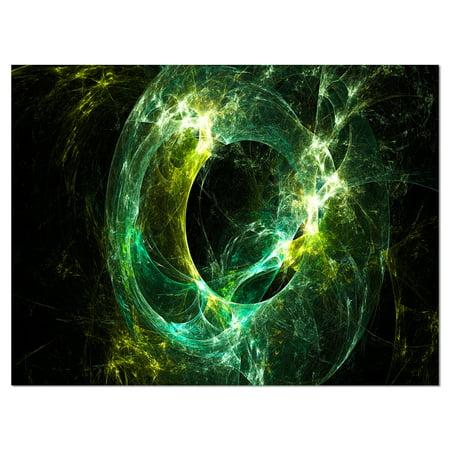 Green Sparkling Lightning - Abstract Canvas art print - image 1 de 3
