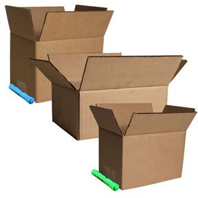 Corrugated Box Strength - 8''x6''x4'' Corrugated Shipping Boxes 25/Pk, ECT 32 Strength Boxes By The Boxery 8''x6''x4'' Corrugated Shipping Boxes