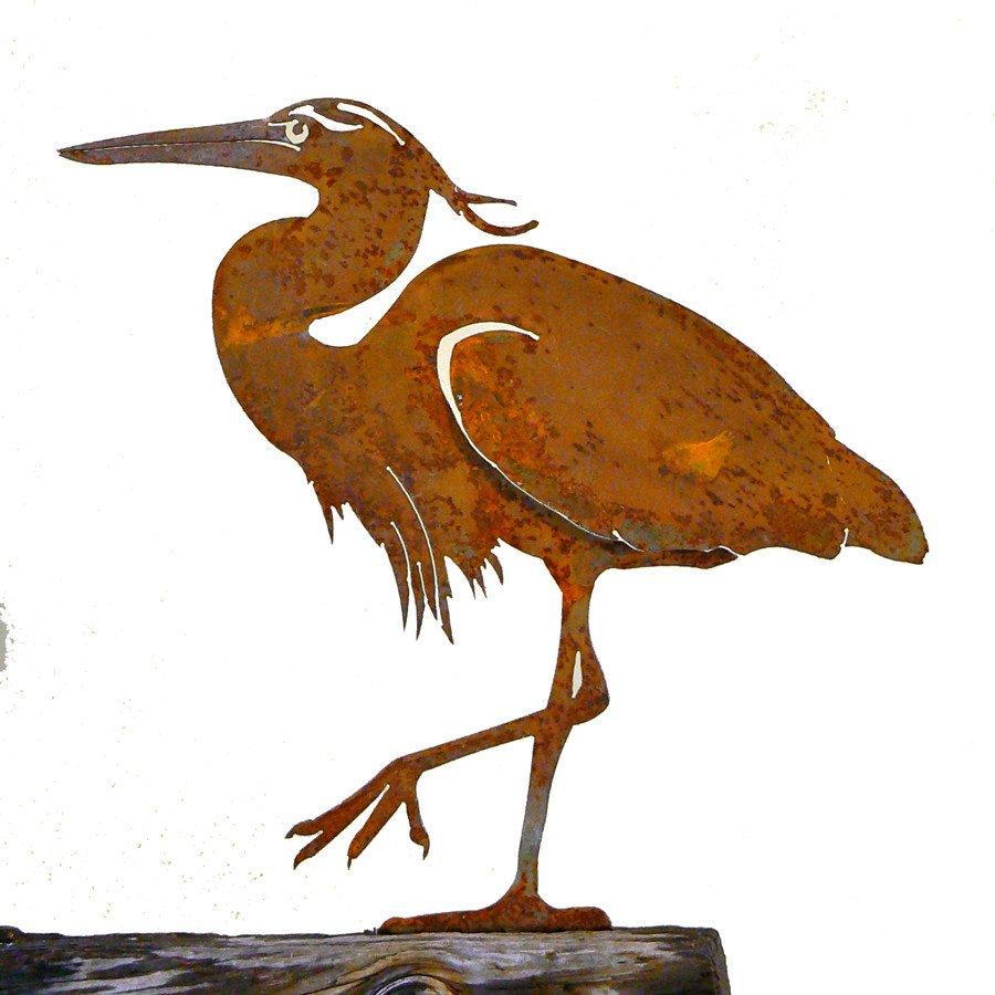 Elegant Garden Design ELEGANTS902 CA Quail Male Stake Bird Silhouette