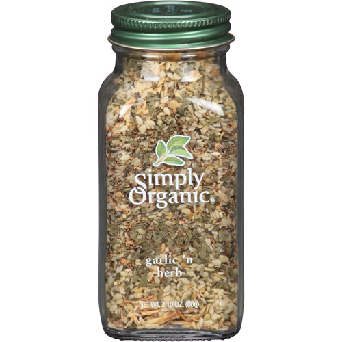 Simply Organic Garlic 'n Herb Blend, 3.10 oz, (Pack of 6)