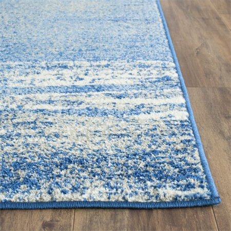 """Safavieh Adirondack 2'6"""" X 20' Power Loomed Rug in Silver and Blue - image 2 de 3"""